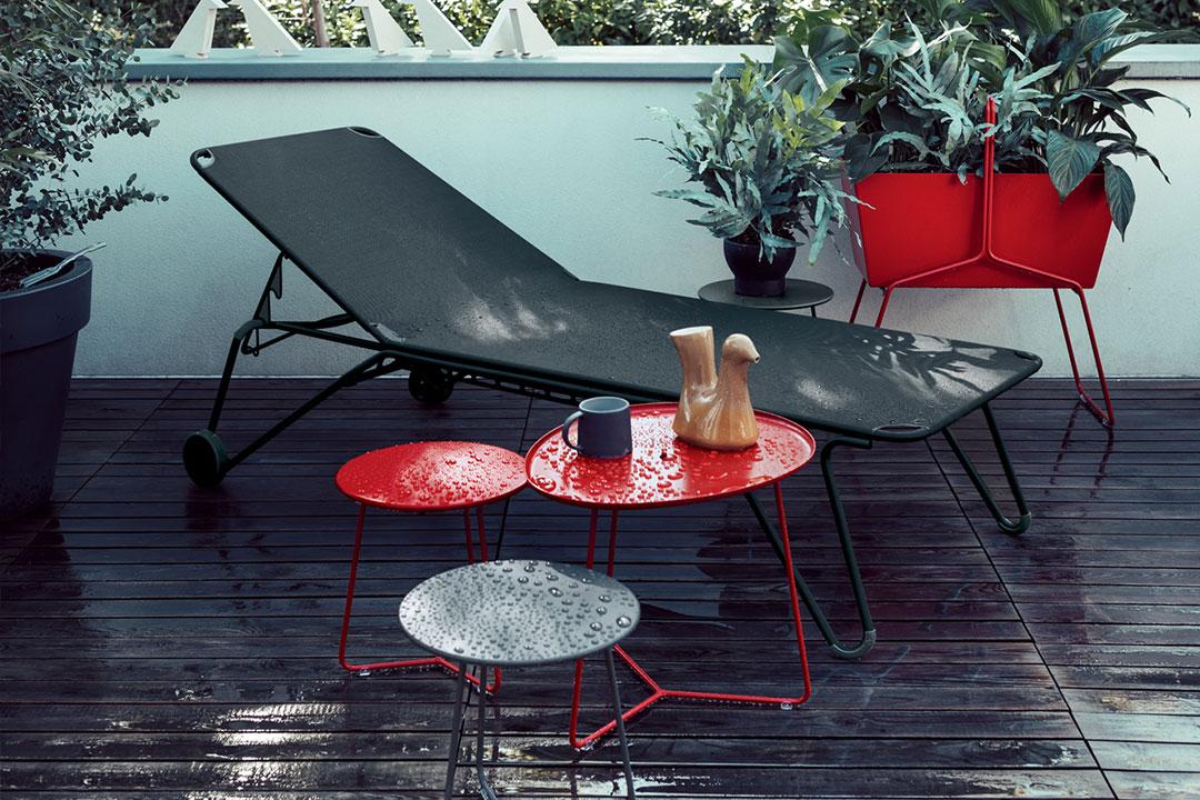 chaise longue fermob, chaise longue, bain de soleil, transat