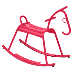 cheval a bascule design, cheval a bascule jardin, jeu jardin, cheval a bascule metal rose