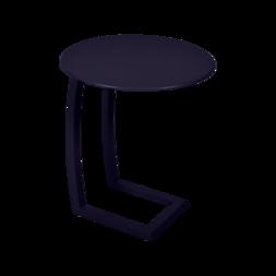 table basse chaise longue bleu, table basse aluminium, table basse bain de soleil
