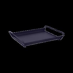 plateau de table metal, plateau de service metal, table de service bleu