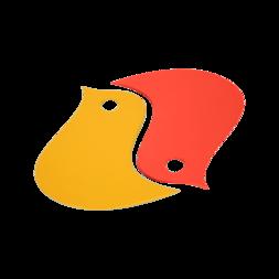 deco de table orange, dessous de plat original, dessous de plat design
