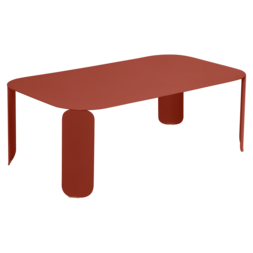 table basse metal, table basse fermob, table basse design, table basse rouge