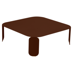 table basse metal, table basse design, table basse fermob, table basse lohner, table basse marron