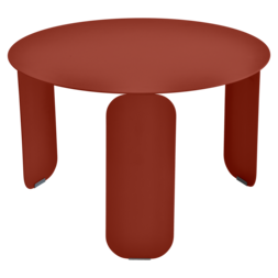 Table basse Ø 60 cm bebop ocre rouge