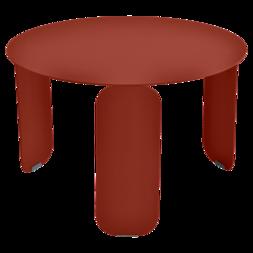 Table basse Ø 60 cm bebop ocre rouge