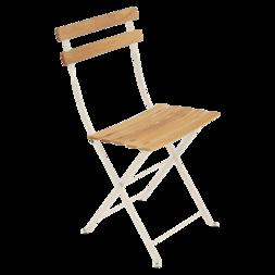 chaise metal et bois, chaise pliante, chaise de jardin pliante, chaise bistro
