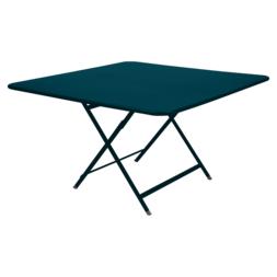 table de jardin pliante, table metal carree, table metal 8 personnes, table de jardin bleu, table metal bleu