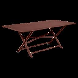 table de jardin, table metal, table de jardin pliante, table metal pliante, table fermob marron