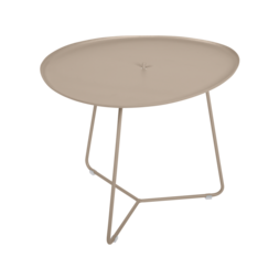 table basse metal, table basse fermob, table basse de jardin, table basse beige