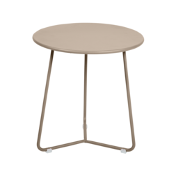 tabouret bas metal, table de chevet, table d appoint, petite table basse beige