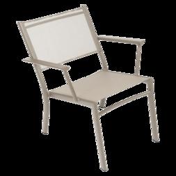 fauteuil de jardin, fauteuil fermob, fauteuil de jardin en toile, fauteuil de jardin beige
