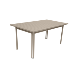 table metal, table de jardin, table rectangulaire, table beige, table 8 personnes