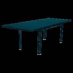 Table à allonge 160/240 x 90 cm costa bleu acapulco