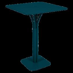 Guéridon haut 80 x 80 cm luxembourg bleu acapulco