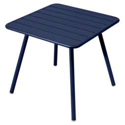 table de jardin, table metal, table 4 places, table bleu, table fermob