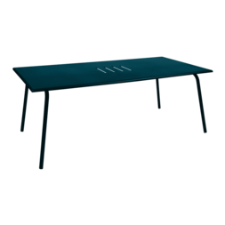 Table 194 x 94 cm monceau bleu acapulco