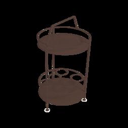 gueridon metal, bar portatif, gueridon fermob, gueridon marron