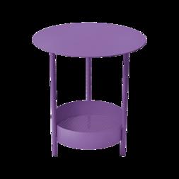 gueridon metal violet