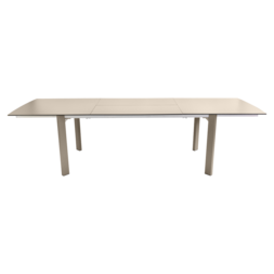 table de jardin beige - table metal