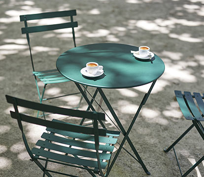 mobilier de jardin, table de jardin pliante, chaise metal, chaise pliante