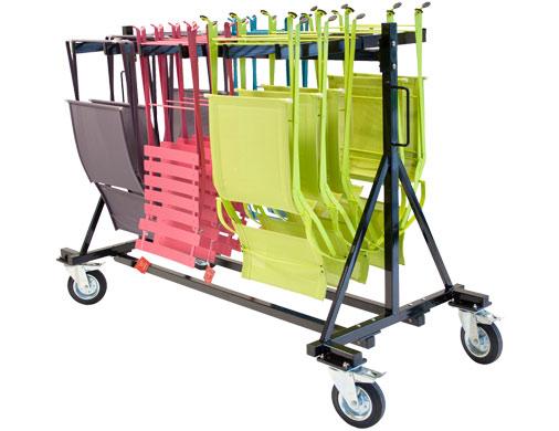 chariot de chaises pour professionnel