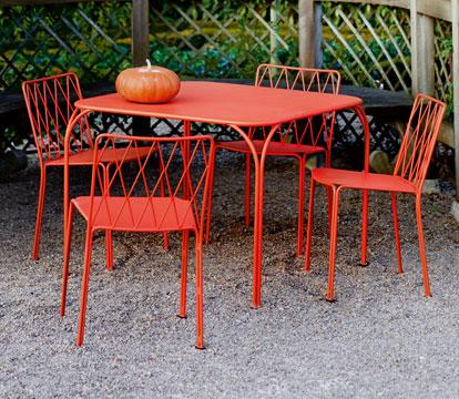 mobilier de jardin, chaise metal, table de jardin