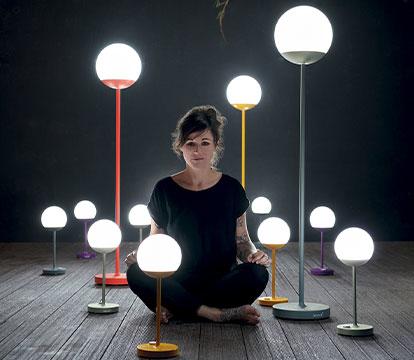 luminaire exterieur, mooon, moon, lampe sans fil, lampe fermob