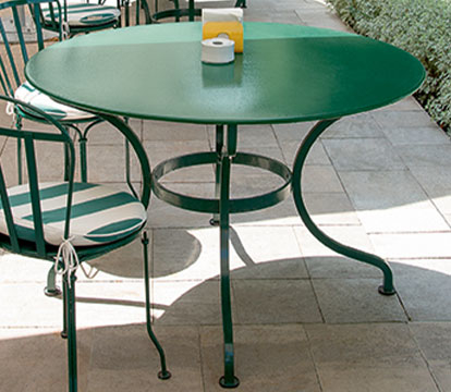 table de jardin, table metal