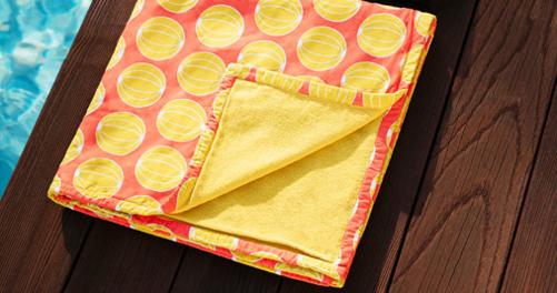 serviette eponge, serviette fermob, serviette de plage