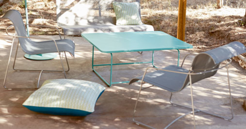 fauteuil de jardin, table basse metal, fermob, table basse design
