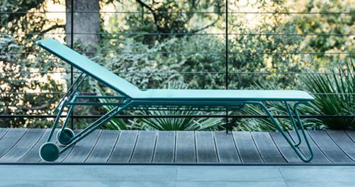 bain de soleil, chaise longue fermob, chaise longue en toile