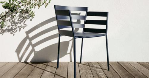 chaise metal, chaise design