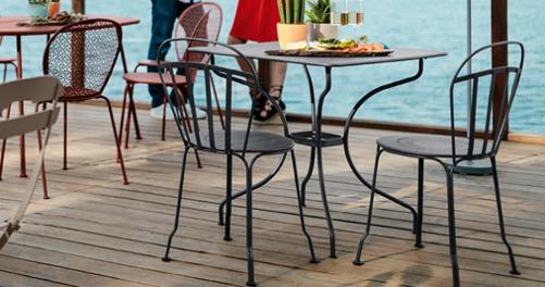 table metal, table terrasse restaurant, table de jardin, mobilier restaurant