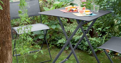 table metal, petite table de jardin, table 2 personnes, table pliante