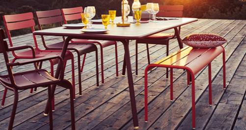table metal, banc metal, table de jardin, table terrasse, banc terrasse