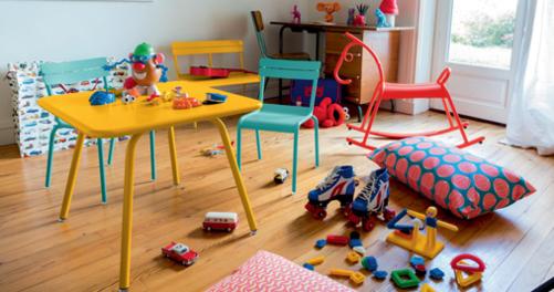table metal pour enfant, table de jardin pour enfant, table enfant