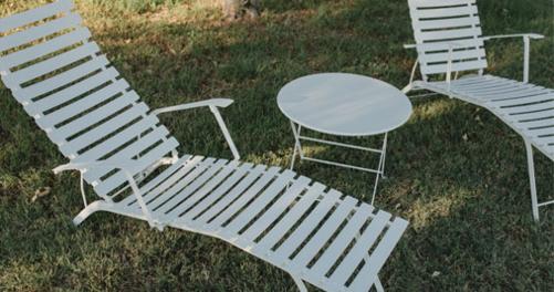 chaise longue metal, chaise longue pliante, chaise longue