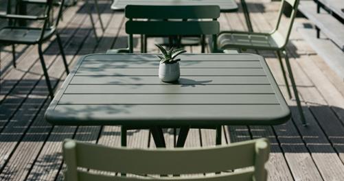table metal, table de jardin, table terrasse