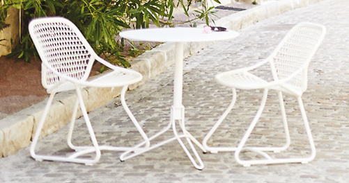 petite table metal, petite table fermob, table 2 personnes, petite table ronde