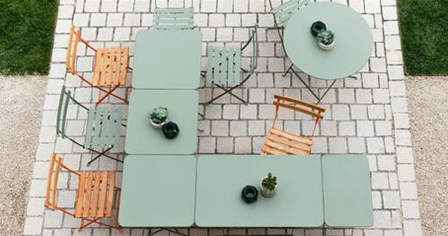 table metal, table pliante, table de terrasse, petite table de jardin