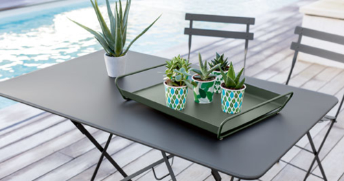table metal, table de jardin table terrasse, table 6 personnes, table 4 personnes