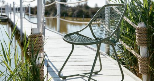 chaise de jardin, chaise tressée