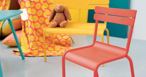 chaise enfant en metal, chaise de jardin pour enfant, chaise metal pour enfant