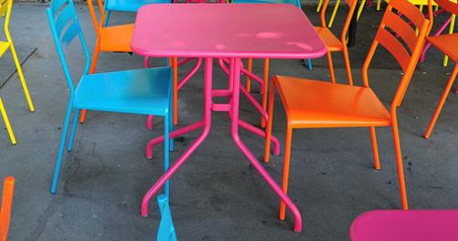 table jardin 2 personnes Pétale