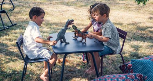 table enfant, table metal pour enfant, table de jardin pour enfant
