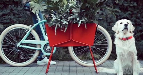 jardiniere en metal, fermob, jardiniere design