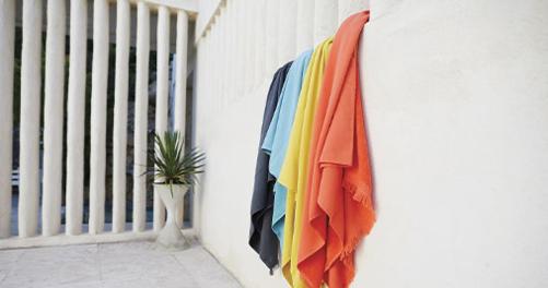 fouta, serviette fermob, serviette éponge, serviette de plage