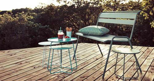 banc metal, banc de jardin, banc terrasse