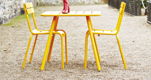 chaise metal, table et chaise de jardin, mobilier terrasse
