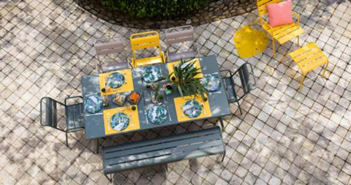 mobilier de jardin, banc metal, banc de jardin